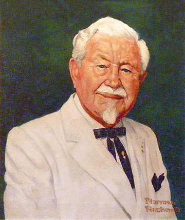 Col._Harland_Sanders'_Portrait_Commissioned_by_Winston_L._Shelton