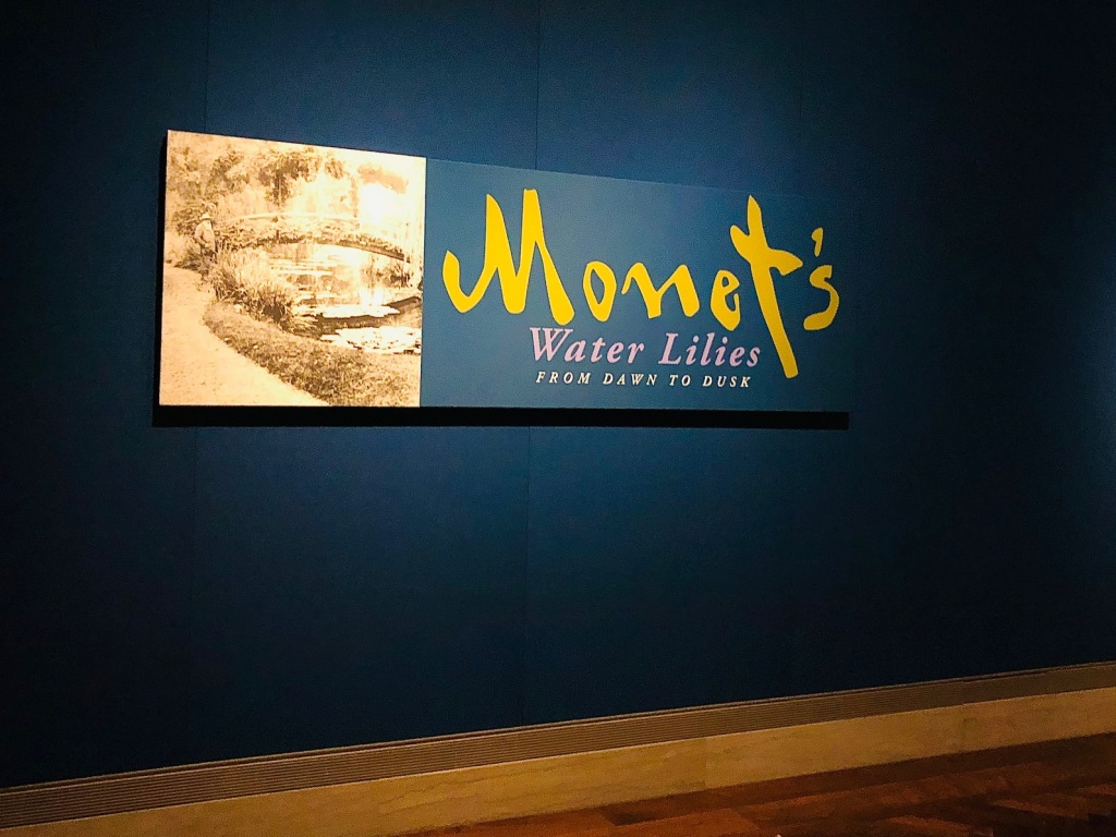 Monet's Water Lilies: From Dawn to Dusk exhibition at The Nelson-Atkins Museum of Art in Kansas City, Mo.